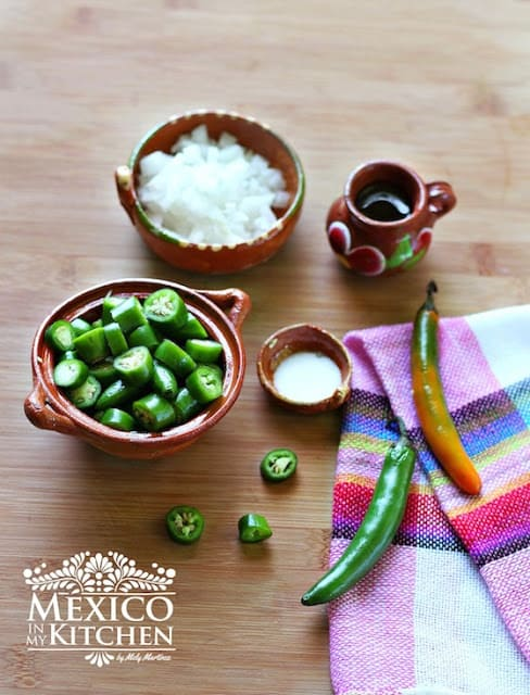 Fried Serrano pepper salsa | Ingredients