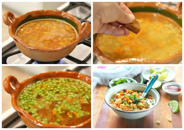 Mexican Pasta Soup Recipe | Instructions step by step, quick and easy