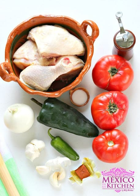 Braised Chicken with Tomatoes | Ingredients