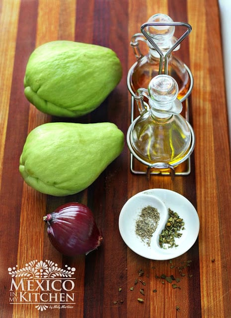 chayote salad recipe | Ingredients