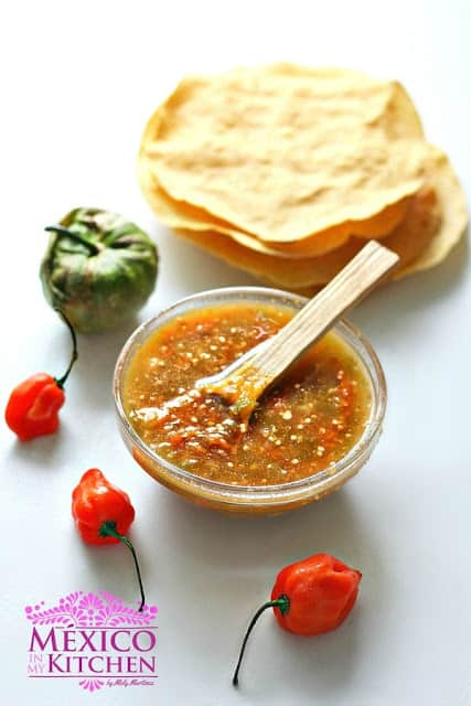 Habanero tomatillo salsa recipe | Mexican Recipes