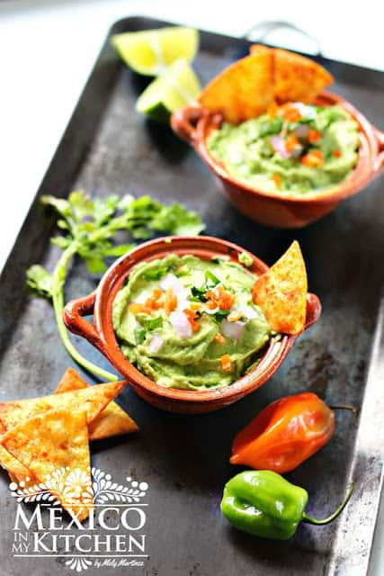 Creamy Habanero Guacamole Recipe - Mexico In My Kitchen