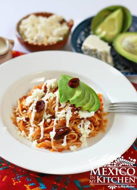 sopa seca de fideos recipe, mexican noodles