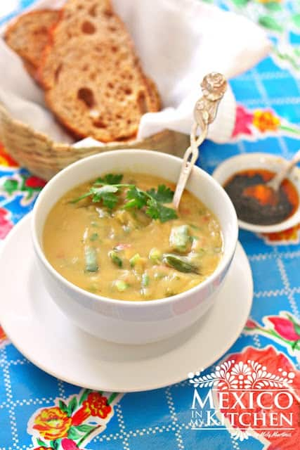 Mexican fava bean soup recipe | sopa de habas | Mexican Recipes