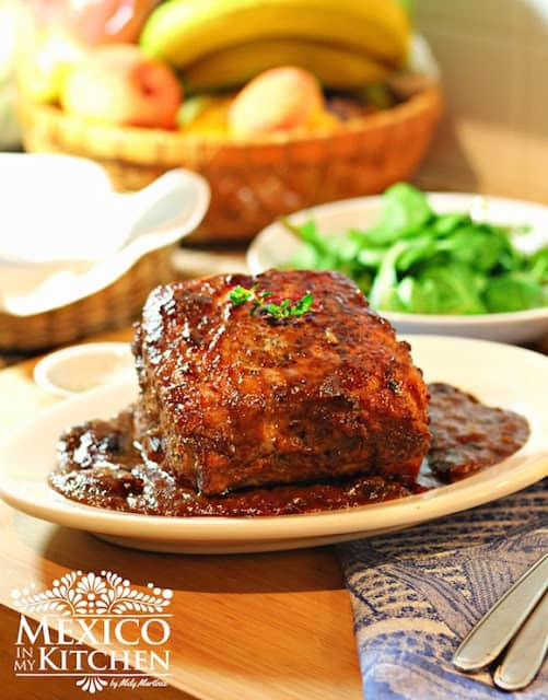 Pork Loin in Prune Sauce recipe | Mexican Recipes