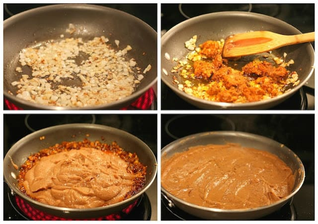 Pinto beans with chorizo, step by step