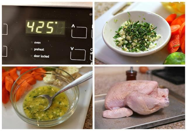 Roast chicken recipe Pollo al horno, step by step