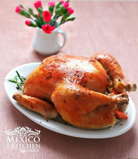 Roast Chicken pollo al horno recipe