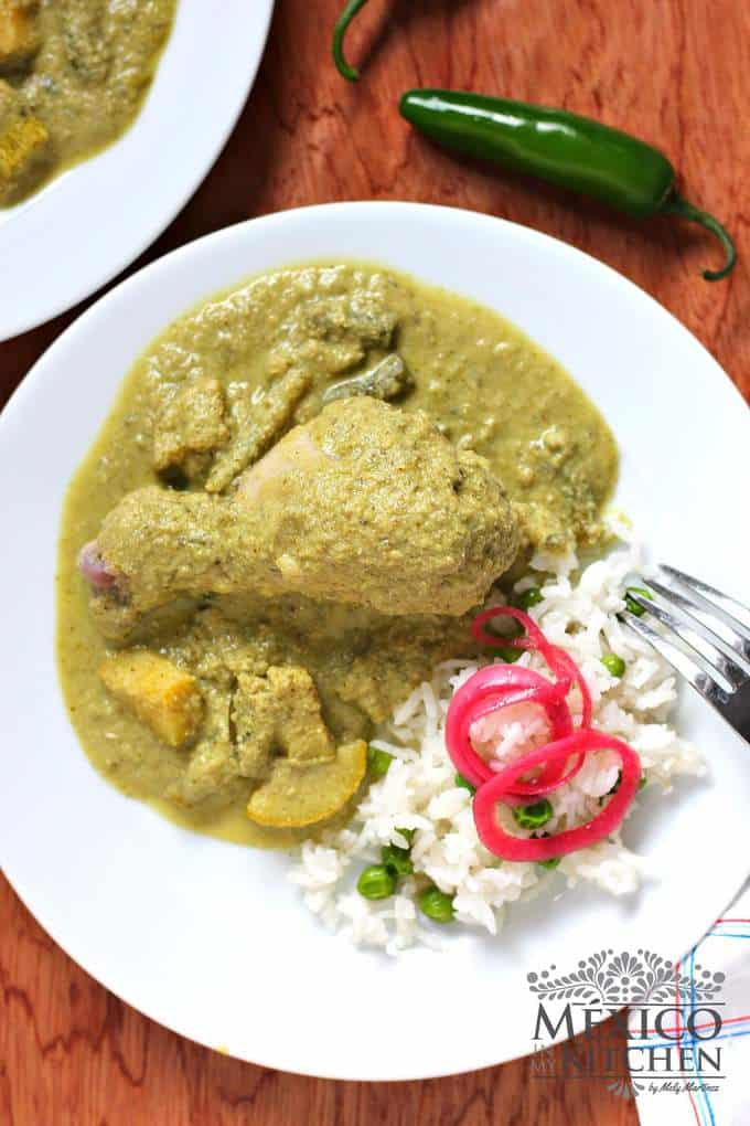 How To Make Mole Verde Recipe Green Mole Recipe