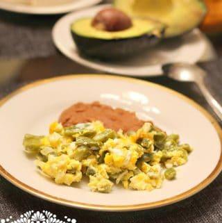 Easy Nopales and Eggs recipe
