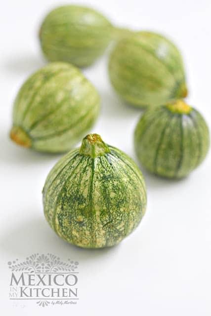 Mexican round squash - Curcubita or Pipiana