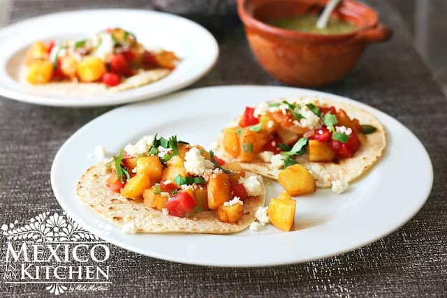 Mexican Style Potatoes - Papas a la Mexicana