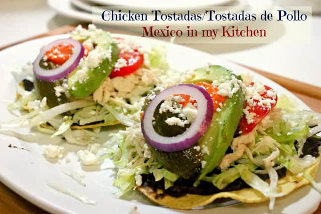 Chicken Tostadas, a classic mexican dish