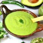 Avocado Green Salsa – Salsa Verde con Aguacate
