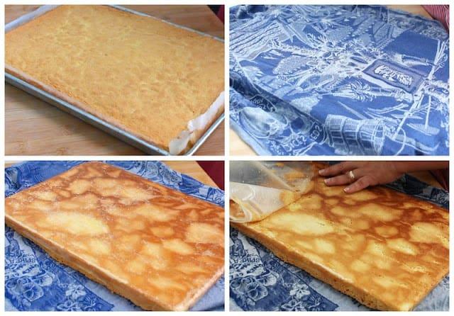 Peach cake roll recipe