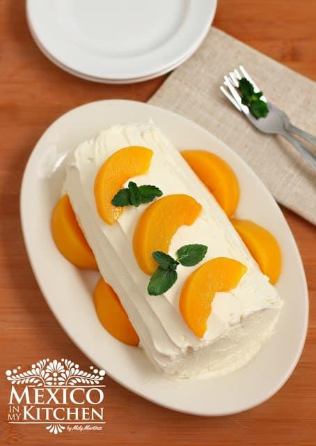 peach cake roll recipe video tutorial