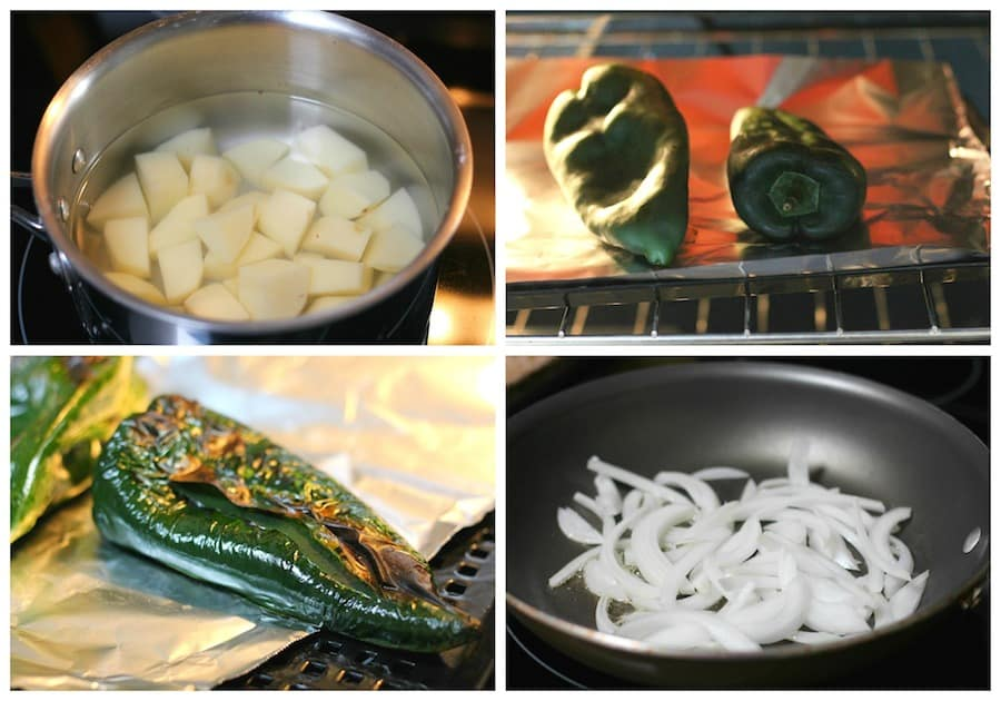 Creamy poblano potatoes, This recipe is done in minutes!
