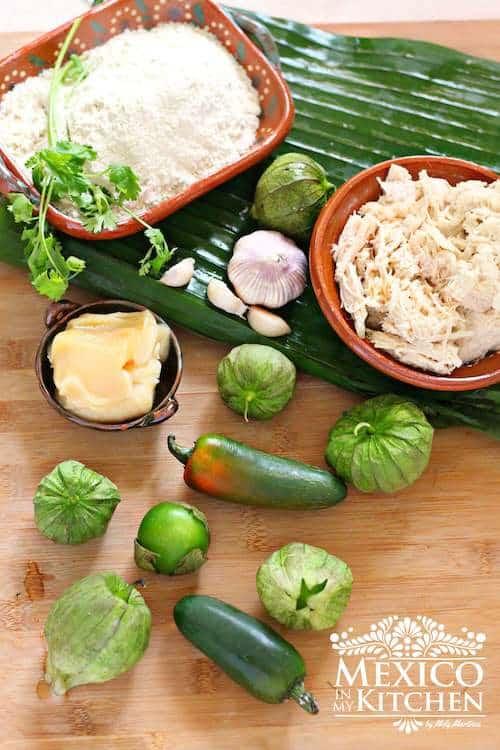 Tamal de Cazuela - Tamal Casserole ingredients