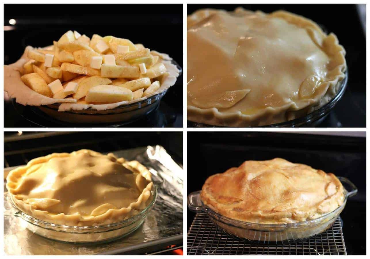 Apple pie with baking explanation