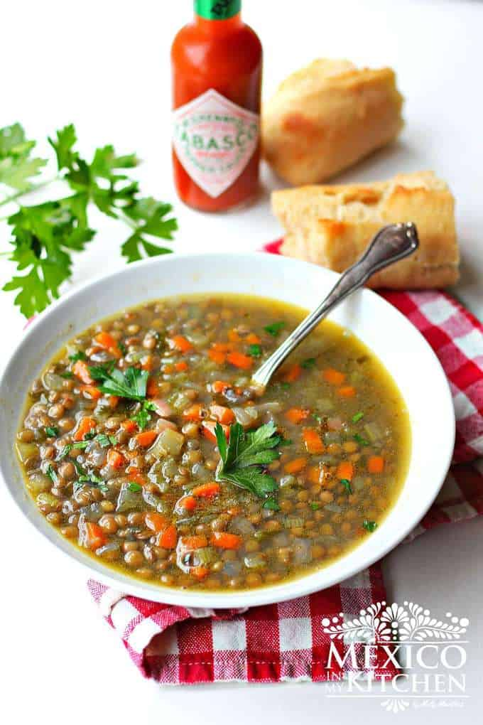 Lentil Soup recipe | Mexican food recipes Lent