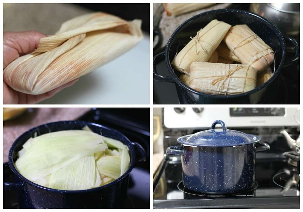 Savory Sweet Corn Tamales, step by step