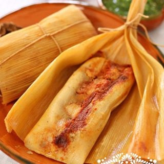 Sweet Corn Tamales with a Savory Filling
