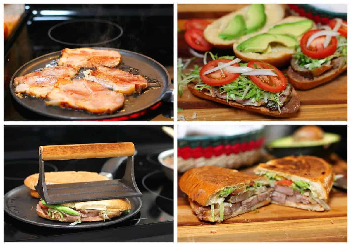 Mexican Pork Leg Torta Sandwich - Torta de pierna