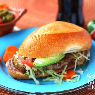 Mexican Pork leg torta sandwich