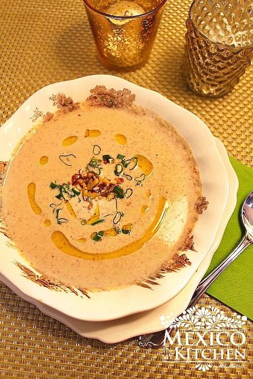 Cream Pecan Soup Mexican | Mexican Recipes