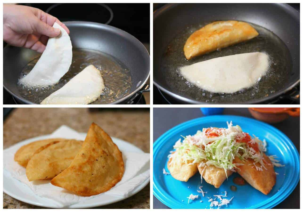 Fried corn empanadas with cheese