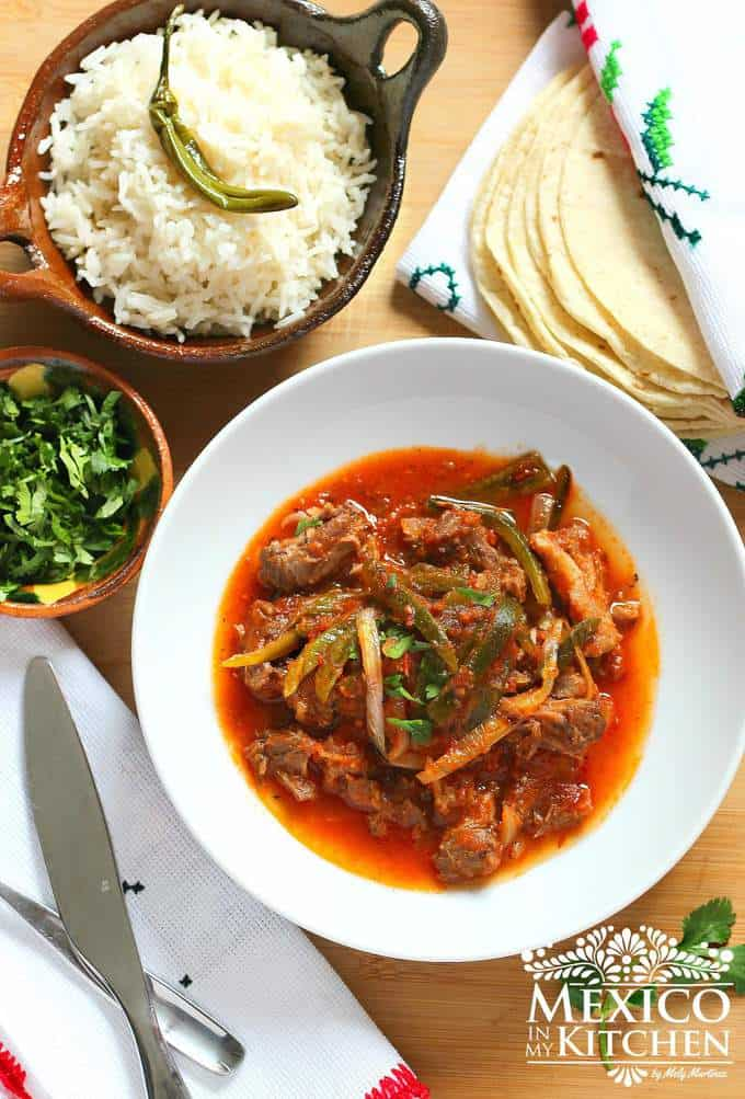 Oxtail Beef stew with poblano peppers | Mexican Recipes