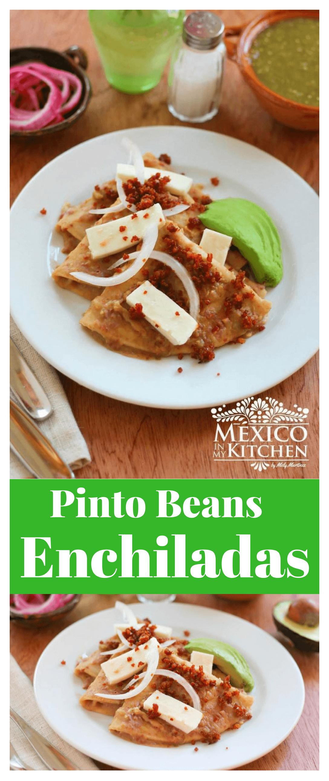 pinto beans enchiladas