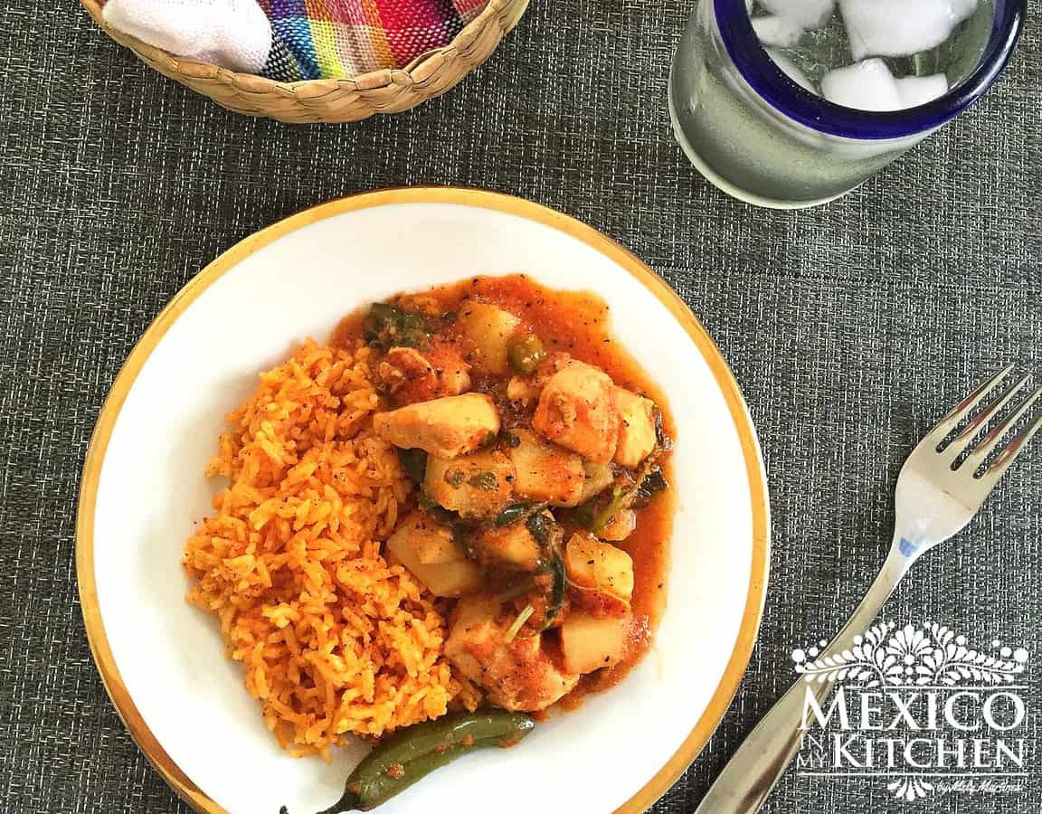 Chicken breast with vegetables stew │Mexican Food Recipes