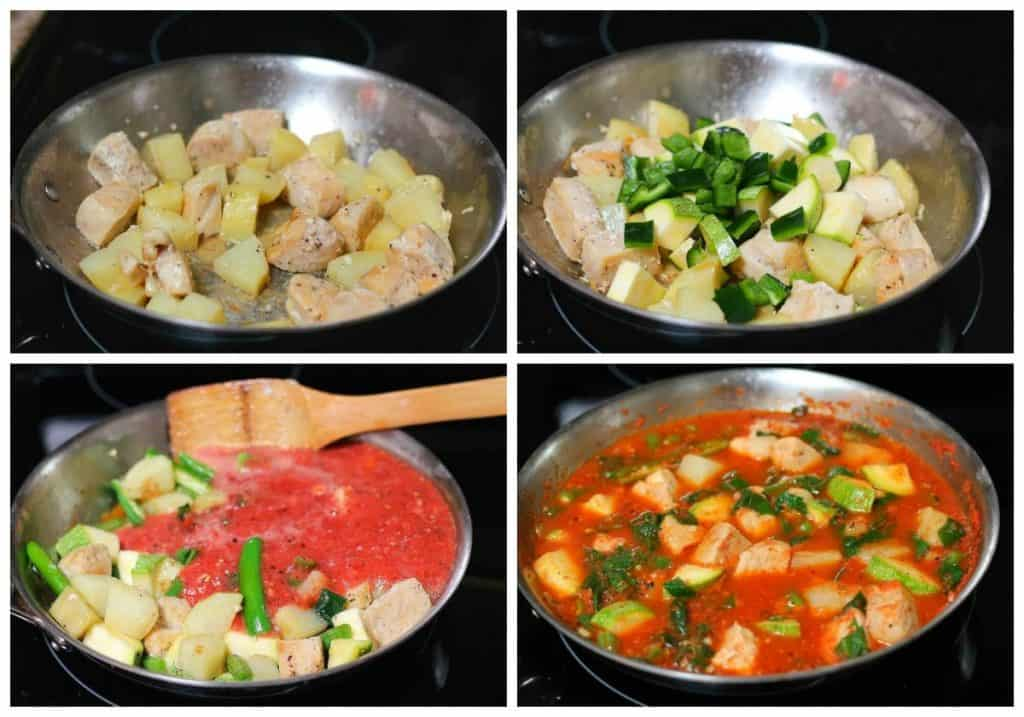 Chicken breast with vegetables recipe | instructions step by step, quick and easy