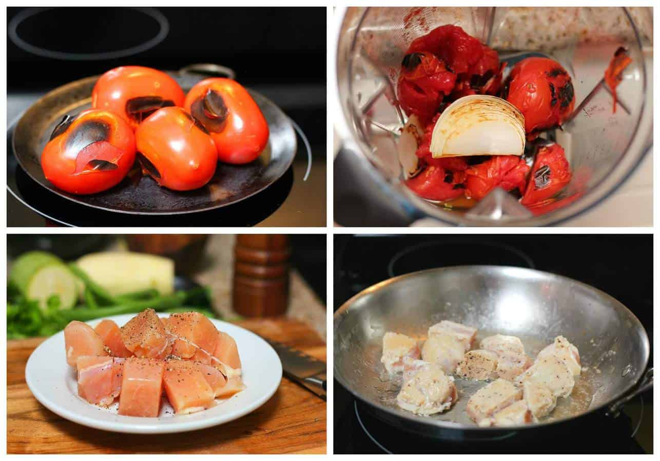 Chicken breast with vegetables recipe | instructions step by step