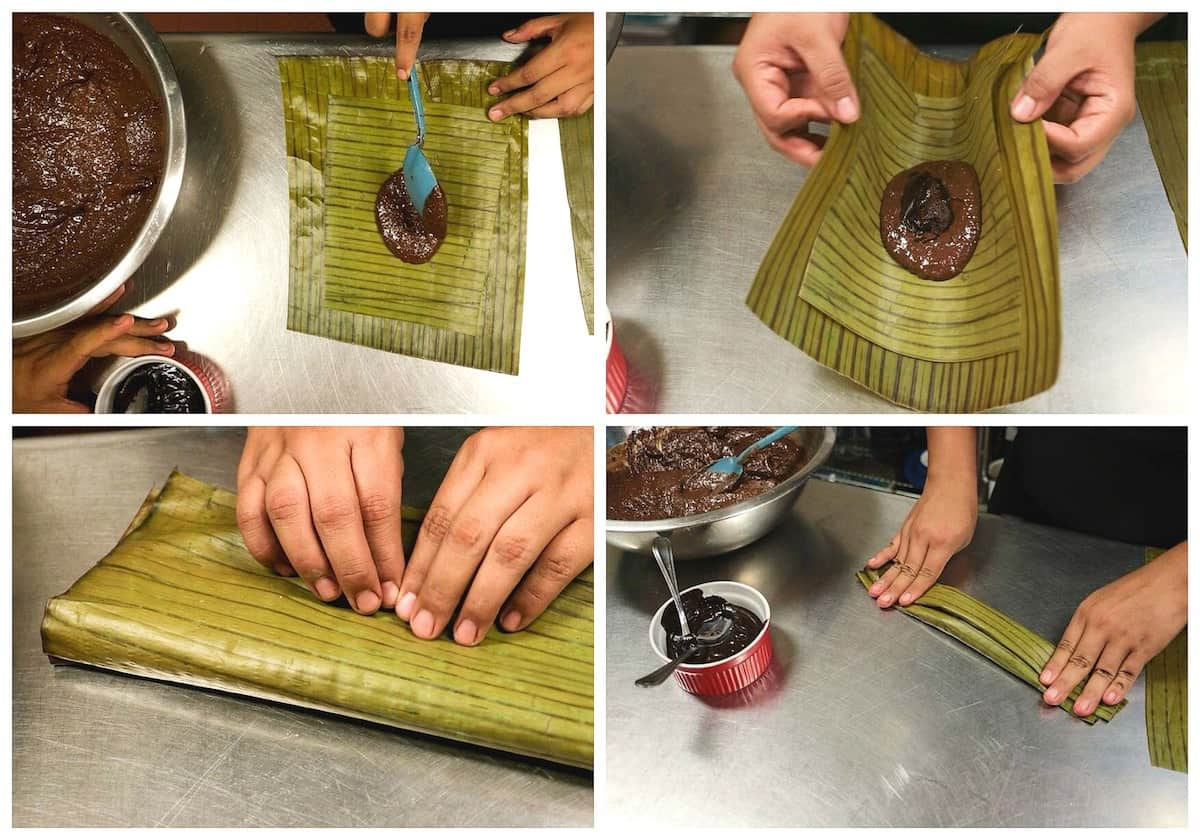 Chocolate Tamales recipe | Instructions step by step, quick and easy