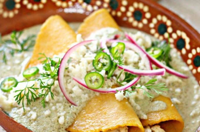 Traditional homestyle mexican food recipes mexico in my kitchen pumpkin seed enchiladas forumfinder Gallery