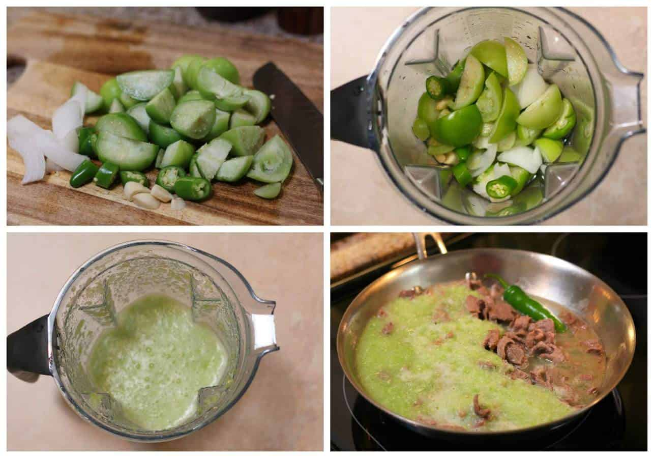 Beef steaks in green sauce recipe | Mexican recipes