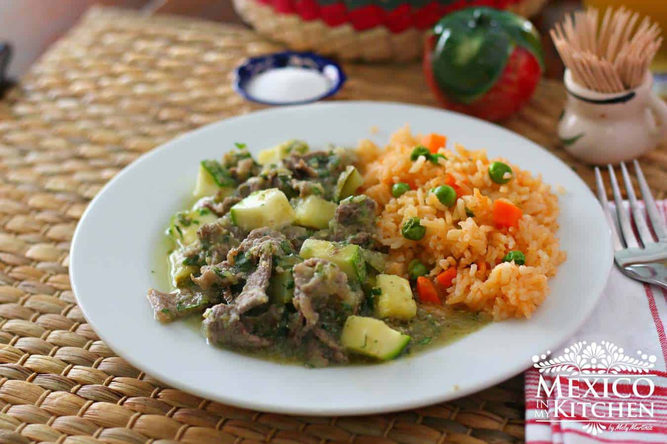 steaks in green sauce recipe \ Mexican recipe
