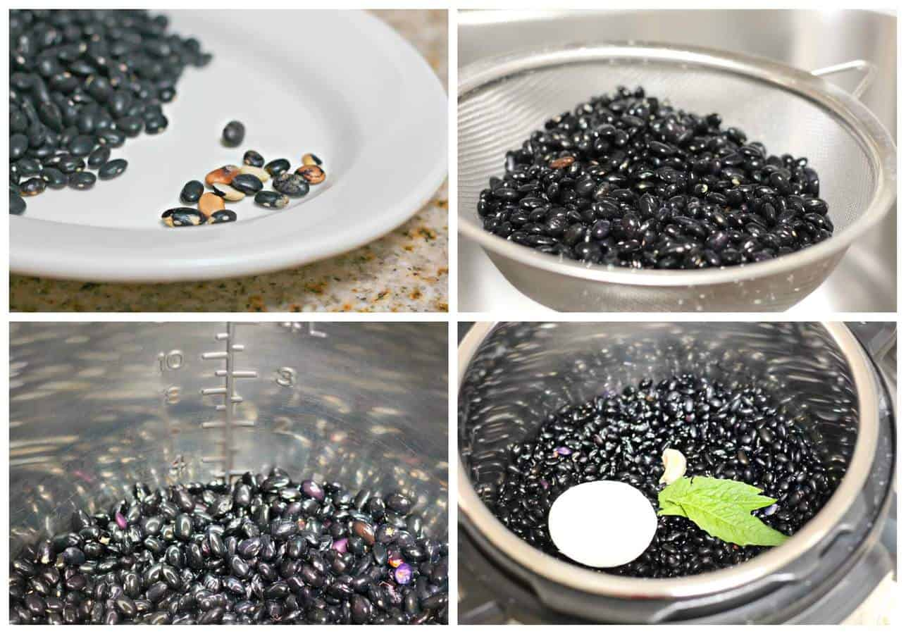 how to cook dried black beans in instant pot