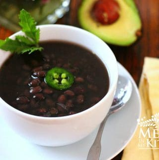 Instant Pot Black Beans Mexican Style