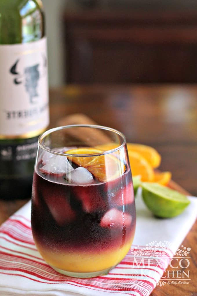 Red wine sangria using the traditional recipe as a base using orange and lime juice to create this Mexican Sangria.