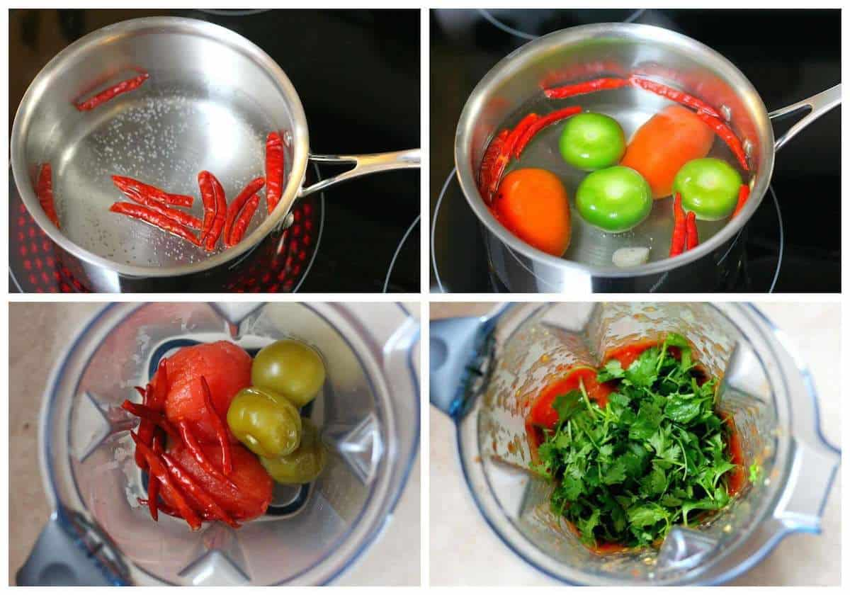 Chile de arbol salsa recipe 1a Delicious salsa make with a combination of tomatoes and tomatillos and arbol peppers.