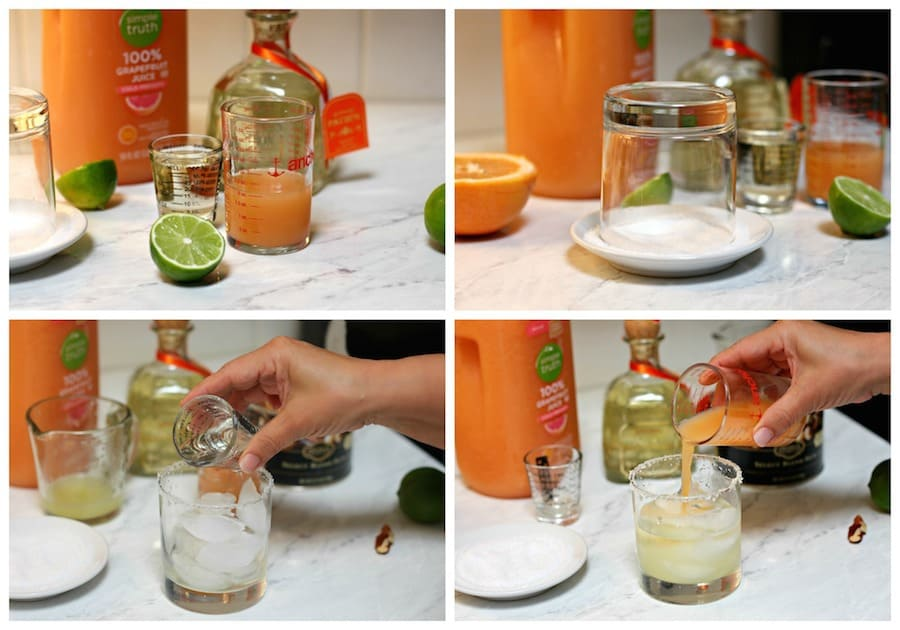 Cocktail Paloma tequila recipe |A quick & easy Mexican Tequila cocktail with Grapefruit is a crowd pleaser.