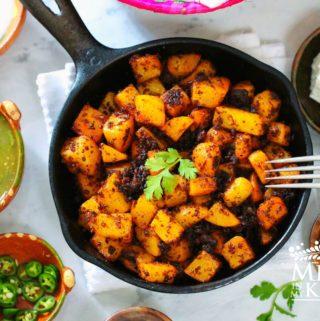 Chorizo con papas - potatoes recipe - 1