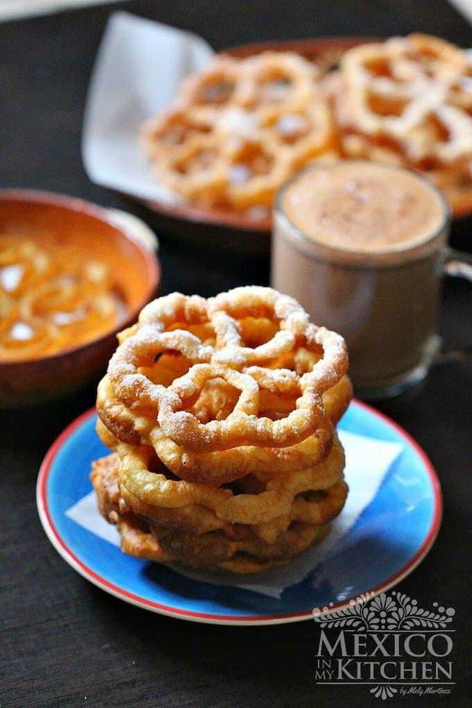 buñuelos de viento Mexican fritters recipe 1e