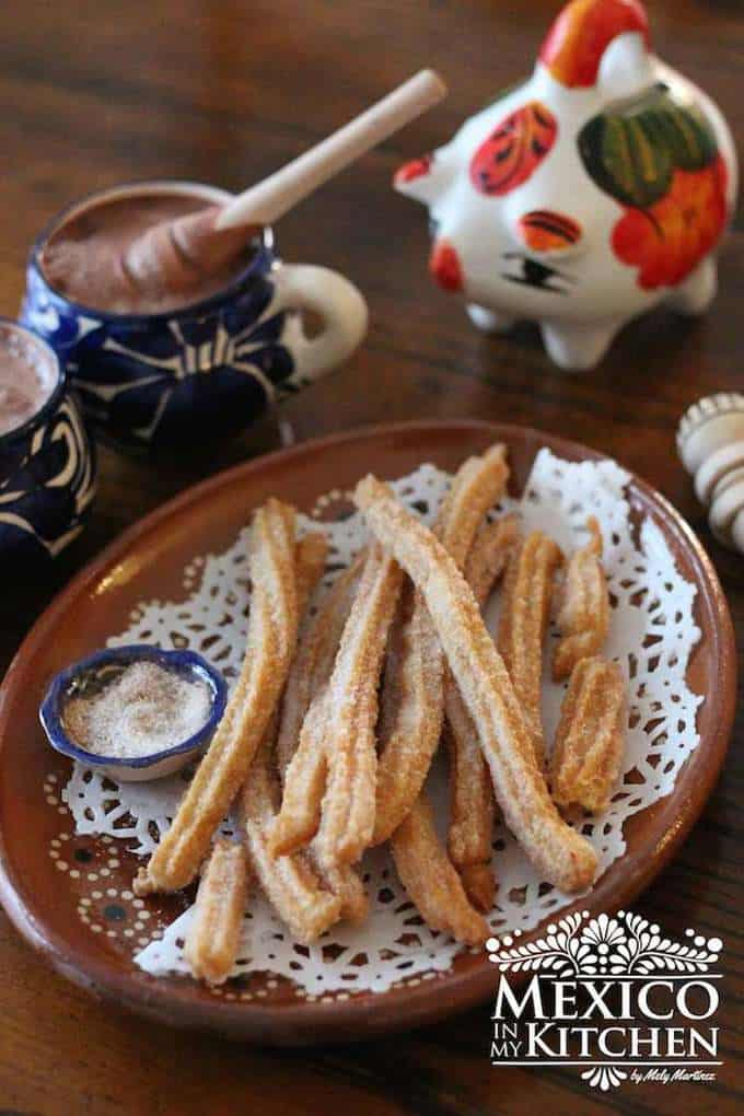 Mexican churros with sugar