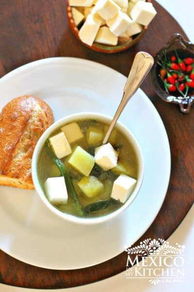 potato poblano soup recipe