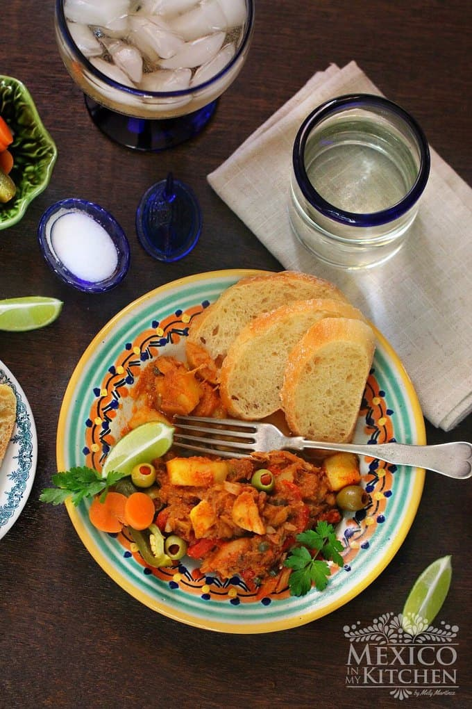 Salted Cod Veracuz style recipe