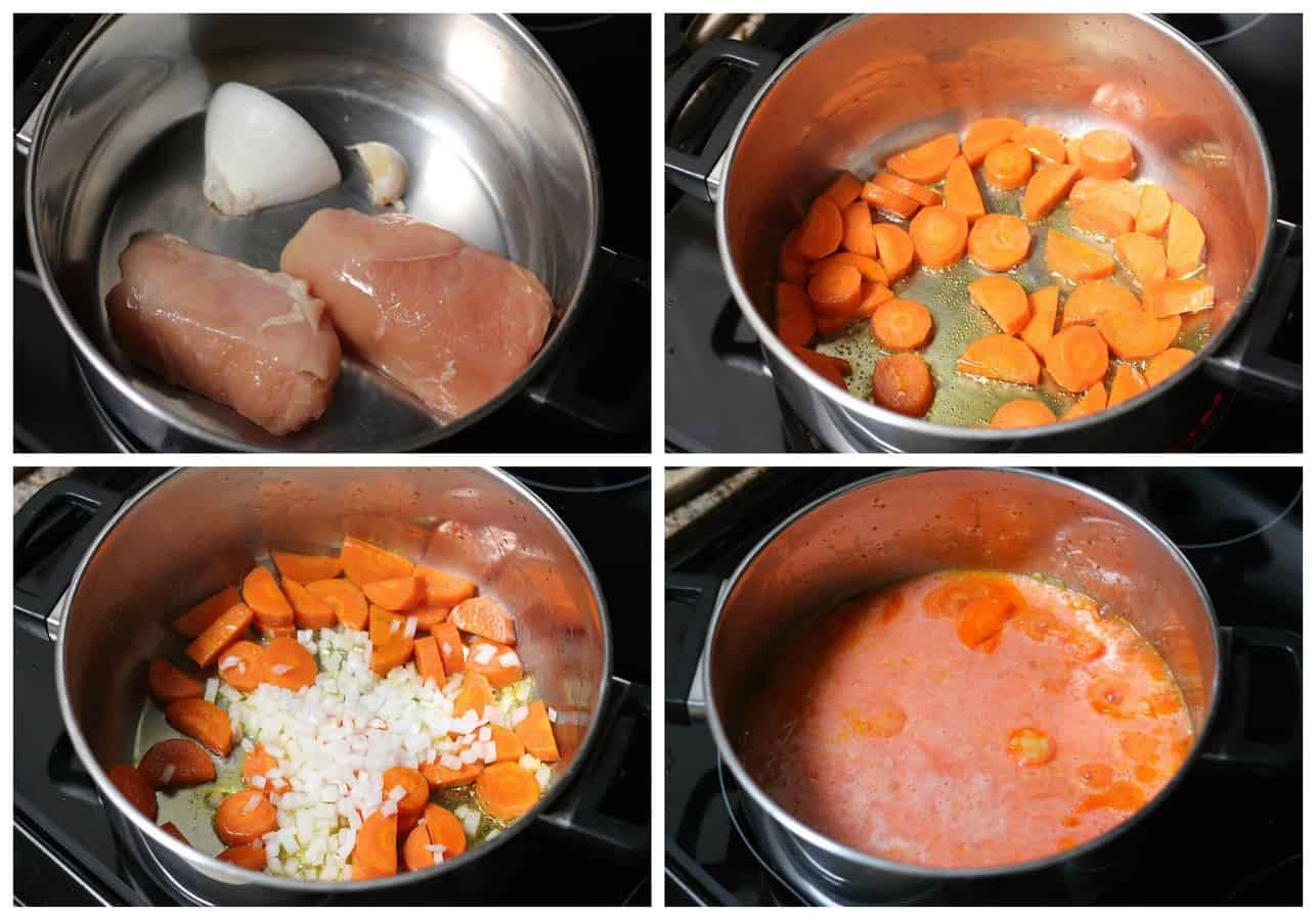 Caldo tlalpeño chicken vegetables soup mexican recipe - 6
